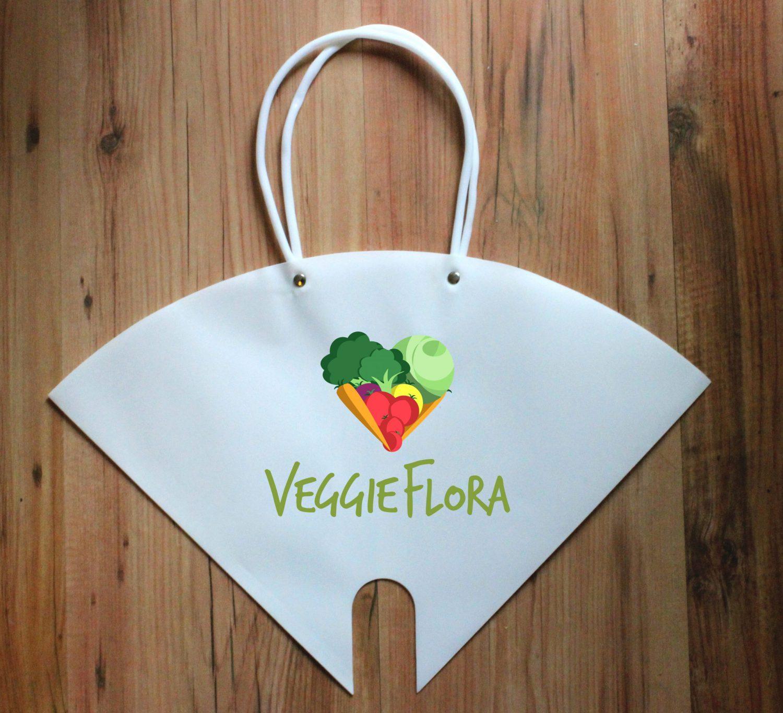 Gemüseblumen Tragetasche