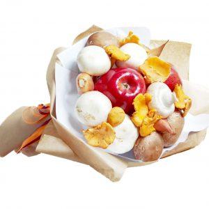 Schneetwittchen, Äpfel, Pilze, Champignons, Pfiffelringe