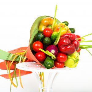 Gemüsestrauß, Geschenkidee, Veganegeschenke, Weihnachtsgeschenk, Griechischer Salat